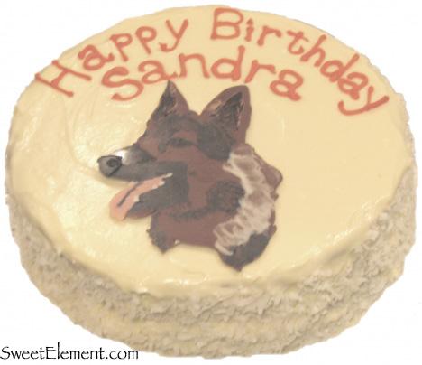 German Shepherd Birthday Cake