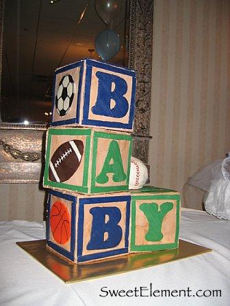 Sports Baby Block Cake