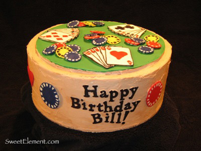 Poker Birthday Cake