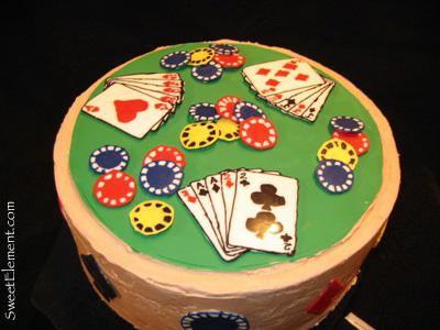 Poker Birthday Cake (Top View)