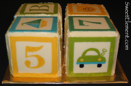 Baby Block Baby Shower Cake View 4