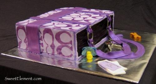 Coach Bag Cake Side View