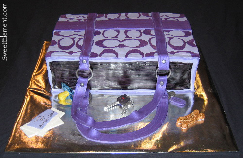 Coach Bag Cake (Front View)