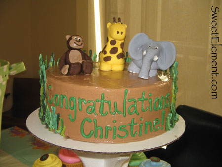 Jungle Baby Shower Cake II
