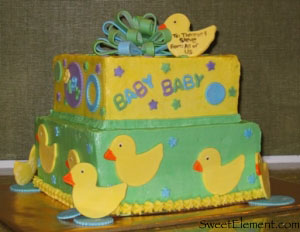 Ducky Baby Shower Cake View 1
