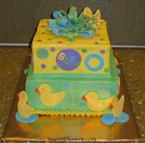 Ducky Baby Shower Cake 2