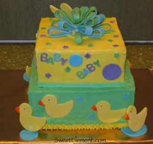 Ducky Baby Shower Cake View 3