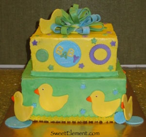Ducky Baby Shower Cake View 4