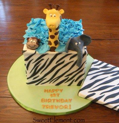 Pleasing Safari Birthday Cake Sweetelement Funny Birthday Cards Online Sheoxdamsfinfo