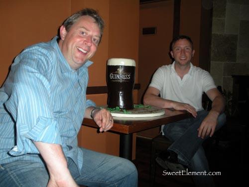 Billy & Joe with Guinness Cake
