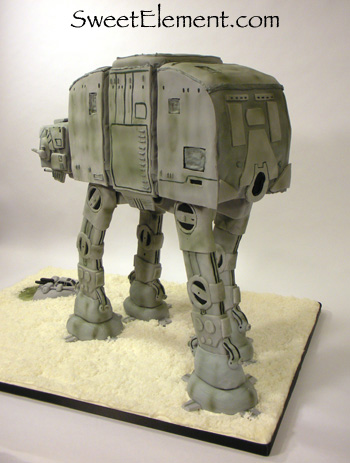 AT-AT Grooms Cake (Rear View)