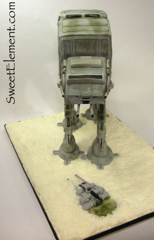 AT-AT Grooms Cake (Front View)
