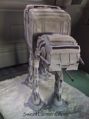 AT-AT Cake in ATV [ Our delivery Honda Pilot ;) ]