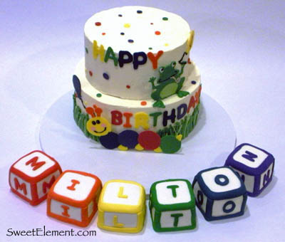Baby Einstein Cake with Blocks