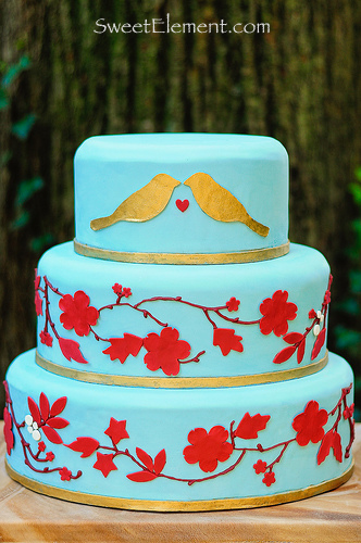 Blue Love Bird Cake