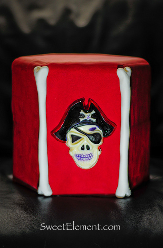 Chocolate Skull Pirate Cake