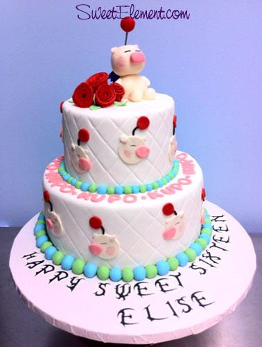 Moogle Birthday Cake