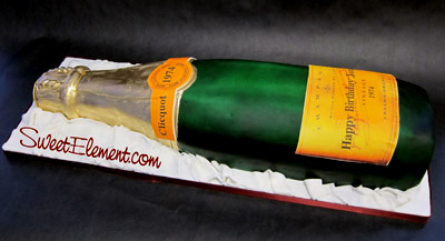 veuve_clicquot_bottle_birthday_cake_side_view