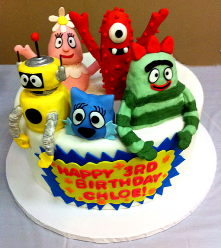 Outstanding Yo Gabba Gabba Birthday Cake Sweetelement Funny Birthday Cards Online Fluifree Goldxyz