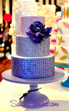 Как торт покрыть блестками