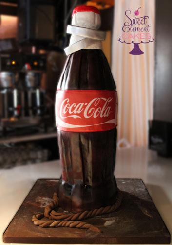 Masquerade Wedding Cake Amp Coca Cola Bottle Groom S Cake