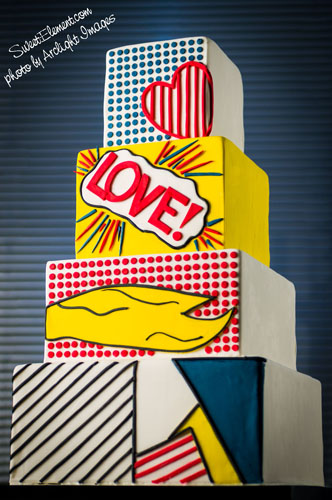 Lichtenstein_Inspired_Wedding_Cake